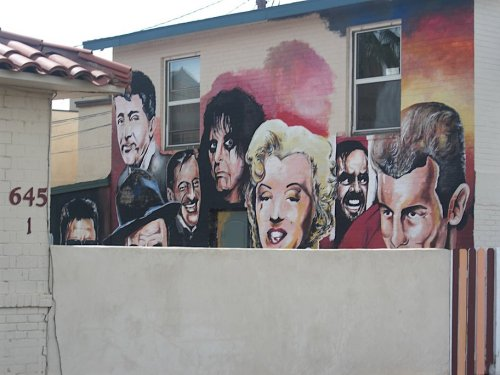 'Celebrities' mural on 5th Ave in Roosevelt neighborhood